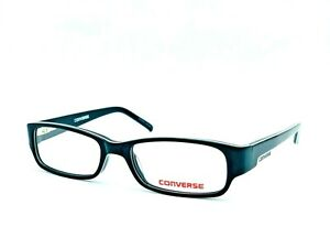 NEW CONVERSE WHY BLACK BOYS EYEGLASSES FRAME 47-15-125 W CASE AUTHENTIC