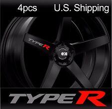 4 TYPE R Stickers Decals Door handle Wheels Rims Mirror Honda Civic SILVER