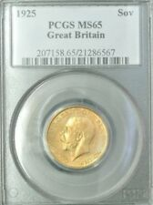 1925 Sovereign Great Britain Gold PCGS MS65 ~Beautiful Coin!~ Free Shipping!