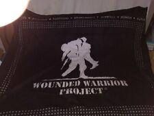 "Wounded Warrior Project Black Fleece Throw Blanket Big Logo 46"" x 53"""