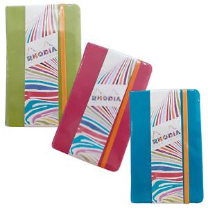 Rhodia Rhodiarama A6 Leatherette Hard Cover Notebook Ruled 3 Colours
