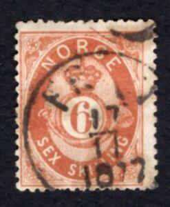 Norway 1875 stamp Mi#20 used CV=40€