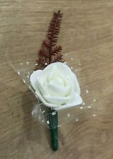 10 x White Roses for DIY Wedding / Crafts