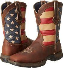 "Durango Women's 10"" Western Cowgirl Boots, Brown/American Flag, RD4414"
