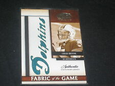 CHAD HENNE DOLPHINS LEGEND GAME USED GENUINE CERTIFIED AUTHENTIC JERSEY CARD /25