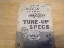 Blue Streak Standard 642-2 Tune-up Specs Book 1971 Trks, Tractors, Small Eng.