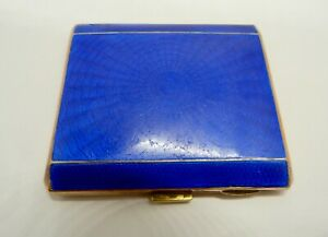 1930's - ART DECO - GUILLOCHE ENAMEL - CIGARETTE CASE