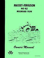 Massey Ferguson No 62 Moldboard Plow Operators Manual