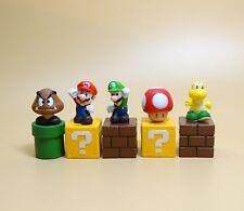 "lot of  5 Super Mario Bros Mario  figure set  2"""