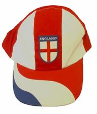 England Red Blue & White World Cup Football Swirl Baseball Adjustable Cap