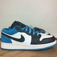 Nike Air Jordan 1 Low SE GS Sneaker Shoes Black Blue CT1564-004 Sz 6Y