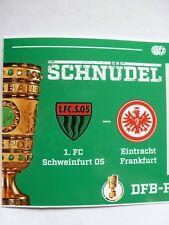 Collectors Ticket 1.fc Schweinfurt 05 Eintracht Frankfurt 0:4 DFB Cup 24.10.2017