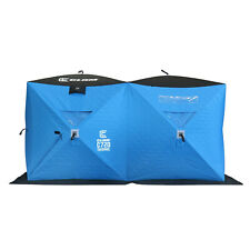 Clam 15497 C-720 Pop Up Double Portable Ice Fishing Thermal Hub Shelter Tent