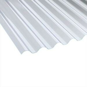 1.1mm Wider Heavyweight Plastic Corrugated Roofing Sheet 10/3, Cast Iron Profile