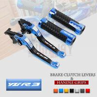 Adjust Folding Brake Clutch Levers Handle Grips for YAMAHA YZF R3 R25 2015-2019