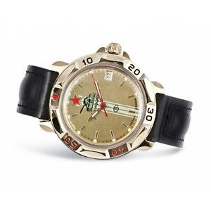 Vostok Komandirskie 819072 Russische Uhr Leder Armband mit Handaufzug Kal 2414A