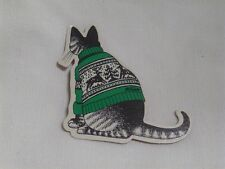Vintage Kliban Cat Ugly Sweater Christmas Ornament Gift Tag Die Cut Decoration