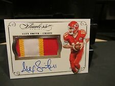 Panini Flawless On Card Autograph Game Worn Jersey Chiefs Alex Smith 03/25 2016