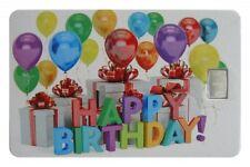 Geschenkkarte Motivkarte Silberbarren 999er Silber 1g Gramm Happy Birthday