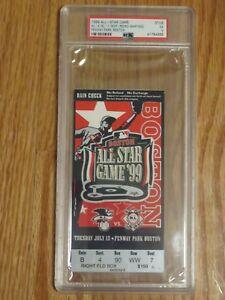 ALL STAR Baseball Game FENWAY July 13 1999 Ticket PEDRO MARTINEZ MVP PSA 5 EX