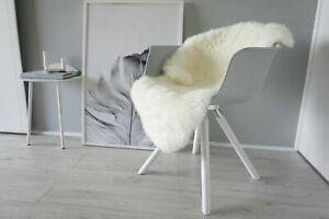Genuine Australian Single Sheepskin Rug Cream White Extremely Soft Silky Wool