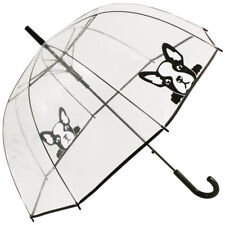 Clair transparent Dome Parapluie-French Bulldog