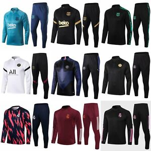 Adult Mens Football Survetement Tracksuit Tops & Bottoms Sportwear Outfits