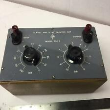 Hewlett Packard Model 350B 5 Watt 600 Ohm Attenuator Set