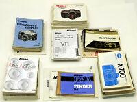 Lot 98 Nikon Pentax Canon Minolta Canon Olympus Mamiya camera instruction manual