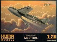 Messerschmitt Me P1106 Jagdflugzeug 1:72 Huma Modell 3006 Luftwaffe 2. Weltkrieg