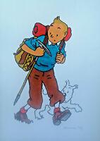 Unikat Mooseart Comic Zeichnung Tim und Struppi Gouache Papier 21x30cm Original