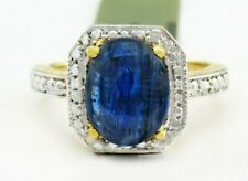 GENUINE 3.22 Cts KYANITE & DIAMONDS RING 10K GOLD * Free Appraisal Service *