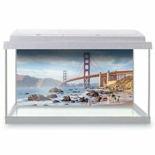 Fish Tank Background 90x45cm - Golden Gate Bridge San Francisco  #21620