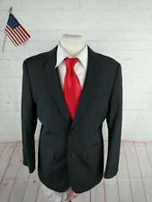 Pronto Uomo Men's Gray Textured Wool Blazer Sport Coat Suit Jacket 40S