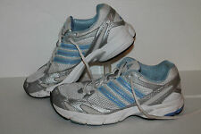 Adidas Running Shoes, Sample, White/Lt Blue/Silver, Womens US Size 7