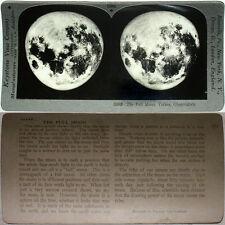 Keystone Stereoview of The FULL MOON, Yerkes Observatory From 600/1200 Card Set
