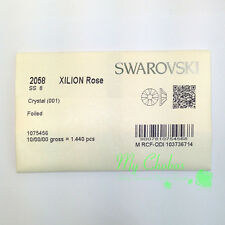 1440 Swarovski 2058 8ss flatbacks rhinestones nail art ss8 clear CRYSTAL (001)