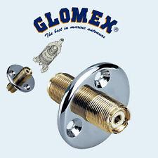 Glomex RA105 - PASSE-PONT COAXIAL PLAQUE OR ET FOURNI AVEC RA132 GOLD ET RA138
