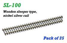 PECO-SL100-CODE 100 FLEXIBLE TRACK NICKEL SILVER-25YRDS