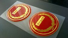 52mm Repro Sears Allstate Vespa Puch Gilera badges Red