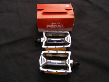 KKT 9/19 CHROME NOS PEDALS BMX RACING FREESTYLE CRUISER VINTAGE BICYCLE