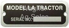 John Deere SERIAL NUMBER TAG  with RIVETS LA JD