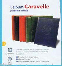 ALBUM CARAVELLE NOIR POUR PIECES, BILLETS, EUROS, ...