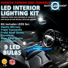 PORSCHE CAYMAN 2005> WHITE LED INTERIOR LIGHT SET BULBS XENON SMD