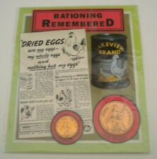 More details for rationing remembered  pre decimal 1930 farthing & 1948 one penny coin pack