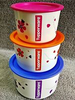 """Tupperware - ONE TOUCH - Containers """"PRINTED"""" - multiple choice available"""