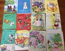 Lot of Vintage 1950s Get Well Greeting Cards Scrapbooking