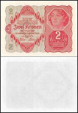 AUSTRIA  2 Kronen 1922 UNC P 74