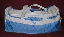 "Vintage 80s NEW BALANCE Blue Grey Nylon Duffle Gym Carry-On Luggage Bag 17.5"""