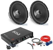"(2) Hifonics HFX12D4 12"" 1600 Watt Car Subwoofer + Boss R1100M + Amp kit Package"